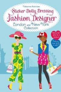 Sticker Dolly Dressing Fashion Designer London and New York Collection af Fiona Watt